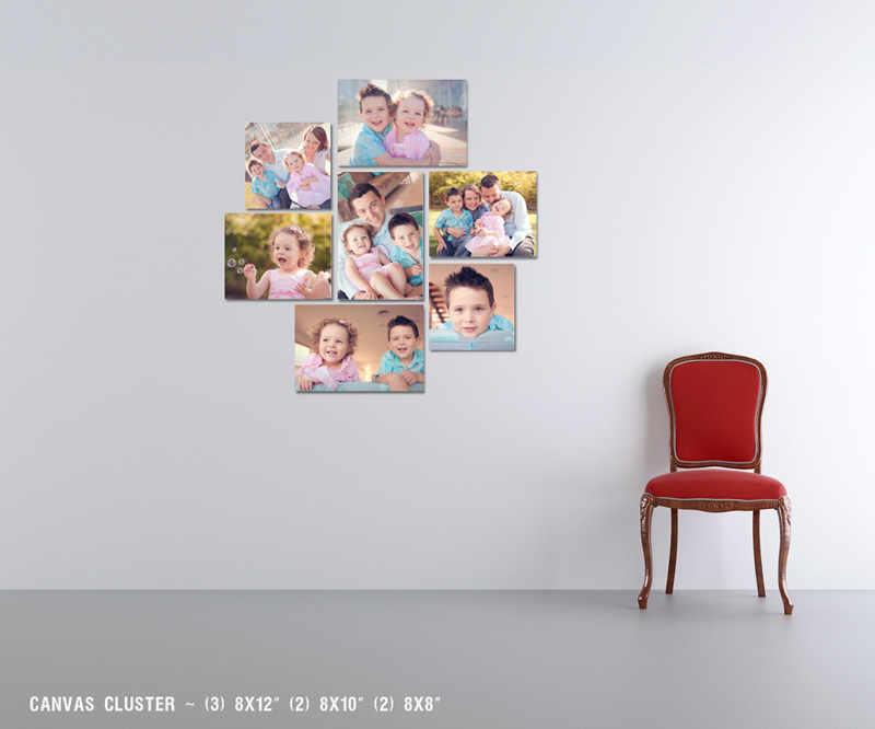 canvas layout Family Photography Bayside