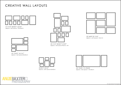 creative wall layouts3 Free Download: Creative Photo Wall Layouts