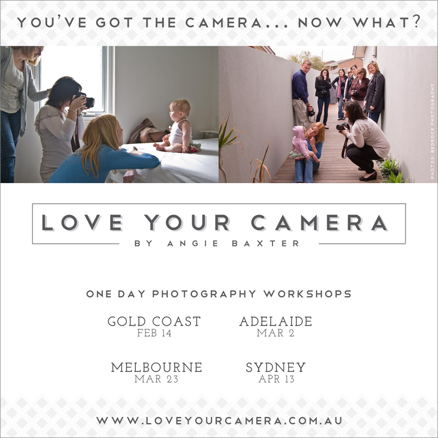 2014 workshop dates Win a Love Your Camera Workshop and 3 Annies Camera Bag!