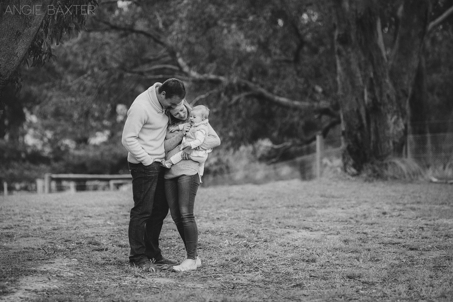 collins 076 mono Ashley, Chris and Charlotte | Melbourne Baby Photography